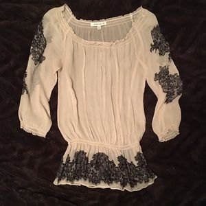 Rose & Olive Sheer Blouse